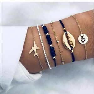 Jewelry - NWT BUY 2 GET 1 FREE STACK OF 6 FESTIVAL BRACELETS